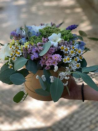 Caixa com flores fresca