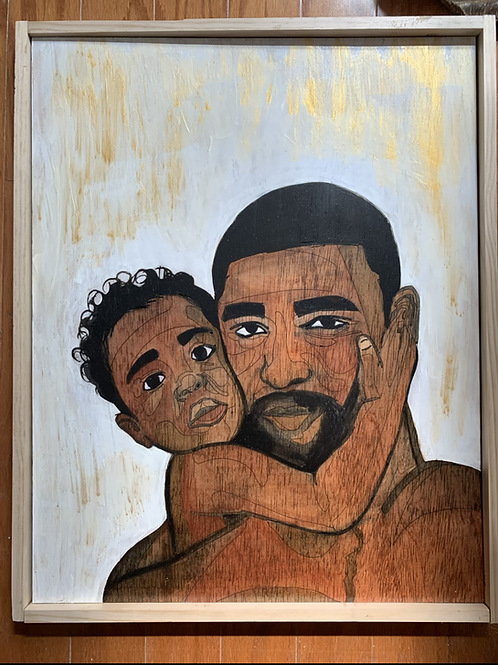 Daddy's Baby - Wooden Wall Decor - Celebrate African American Fathers
