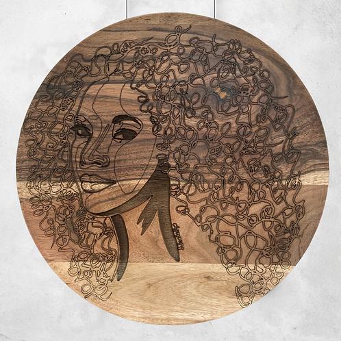 Sunshine - Wooden Wall Art - Portrait of a Woman
