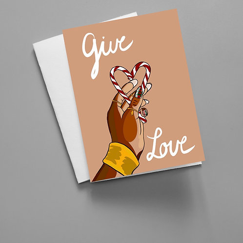 Give Love - Christmas Card