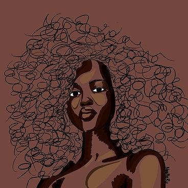 Black Beauty Art | Brown Skin Girl | Noellerx