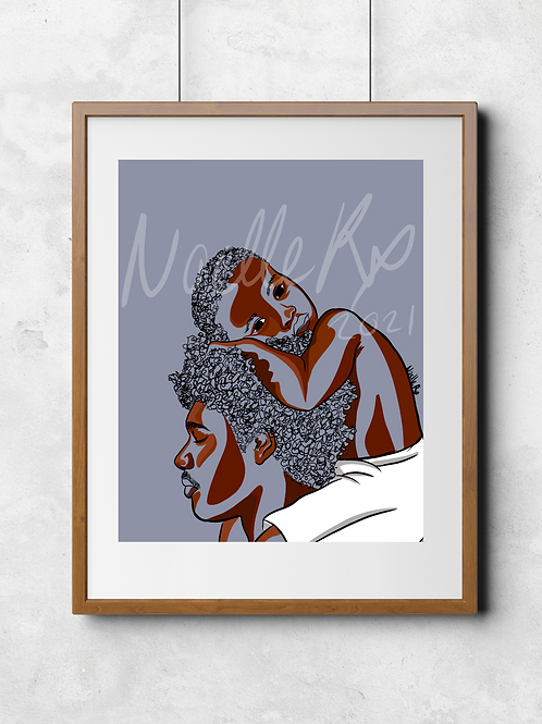On His Shoulders - Portrait of a African American Father and Son