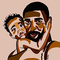 Black Dad Art | Daddy's Baby | African American Fathers