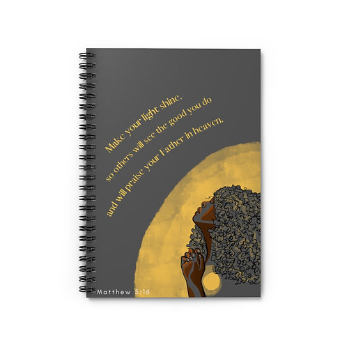 Let Your Light Shine Spiral Notebook - Ruled Line
