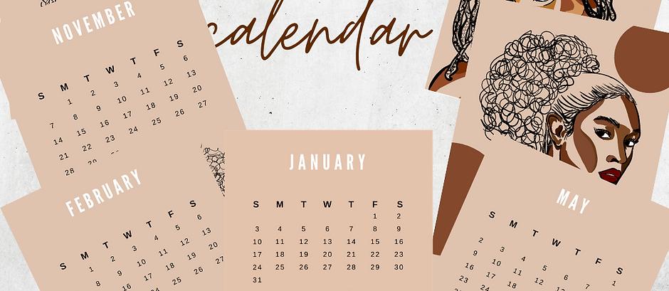 2021 Melanin Magic Easel Calendar