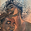 Thumbnail: Hold Me - Original Wooden Wall Art - Portrait of an African American Couple