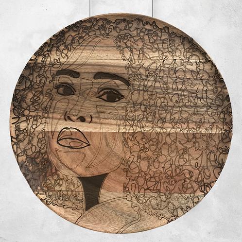 Hello World - Wooden Wall Art - Portrait of a Woman