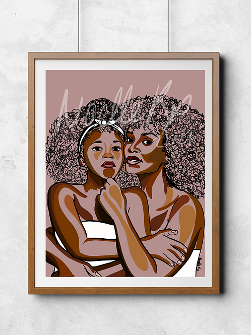Hold Your Head Up - Portrait of a Black Mother and Daughter