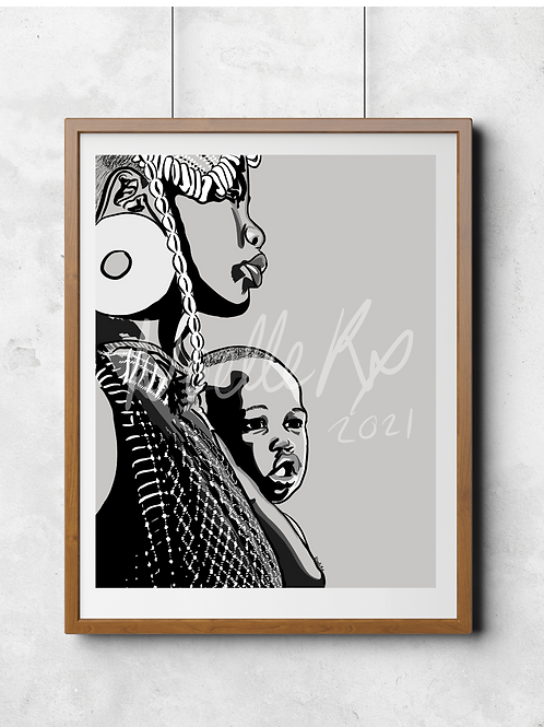 Mommy's Baby - Portrait of a Black Mother and Child