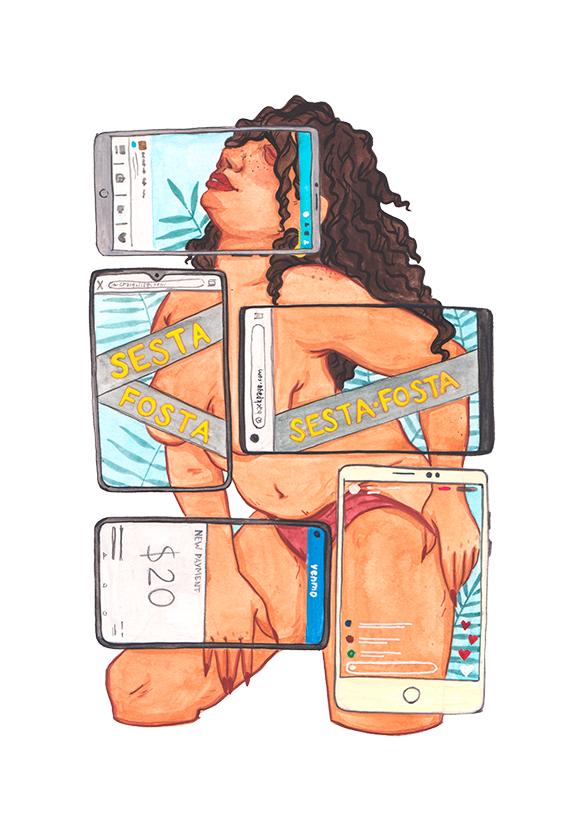 Virtual sex work