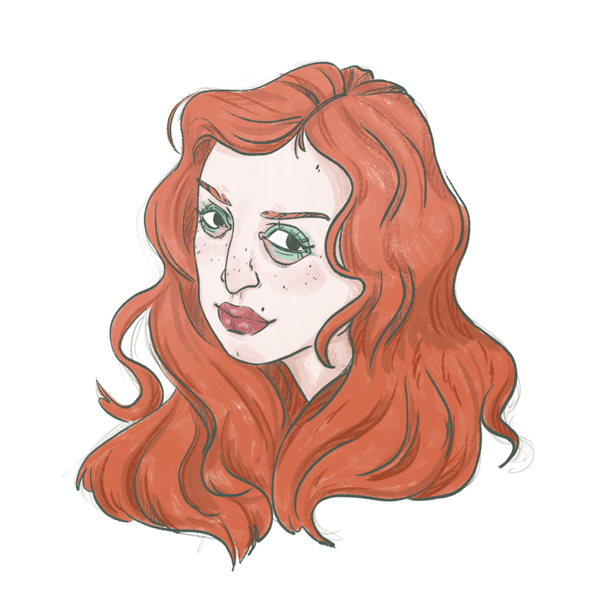 Red haired girl portrait