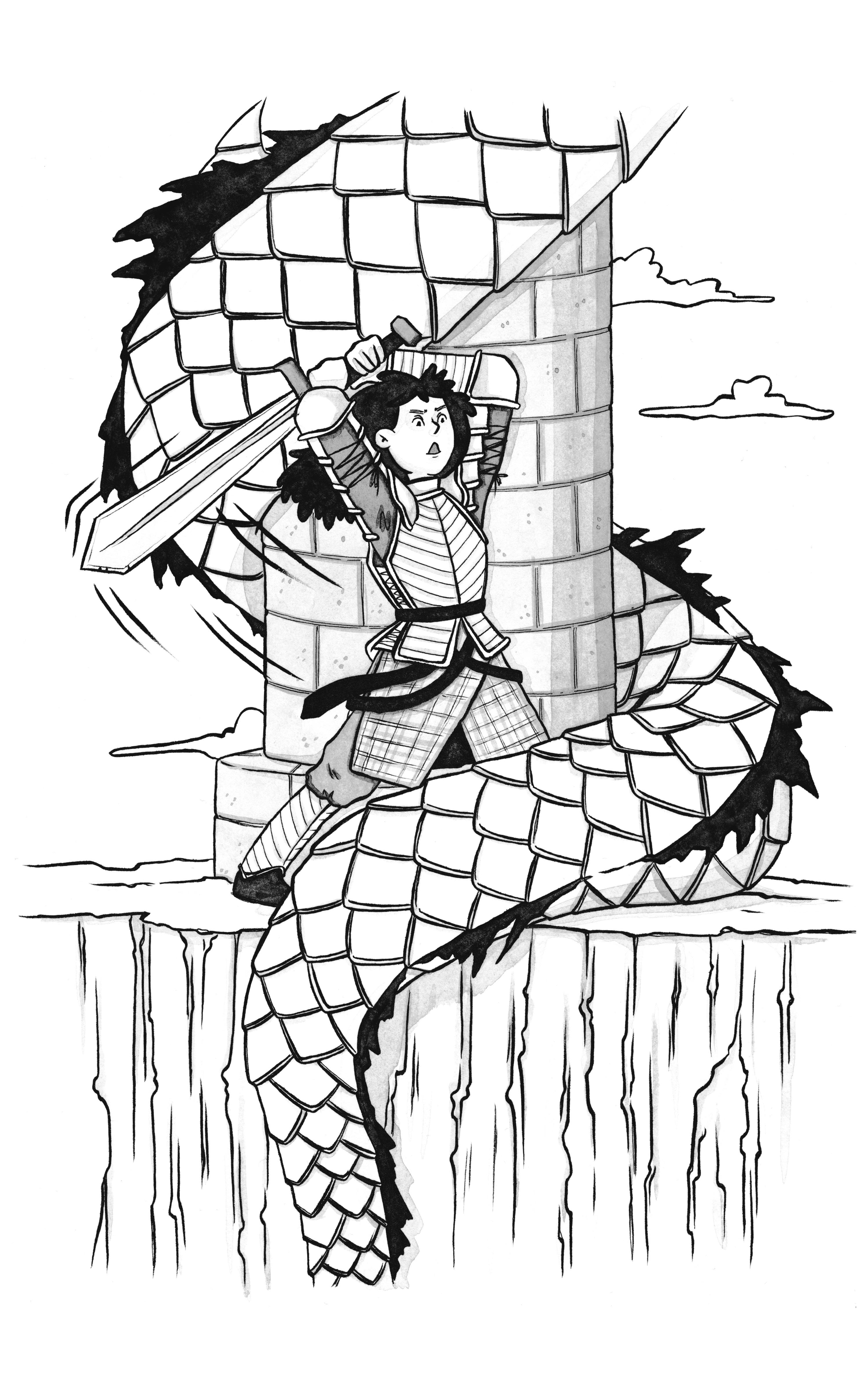Fantasy illustrations for RPG rule book