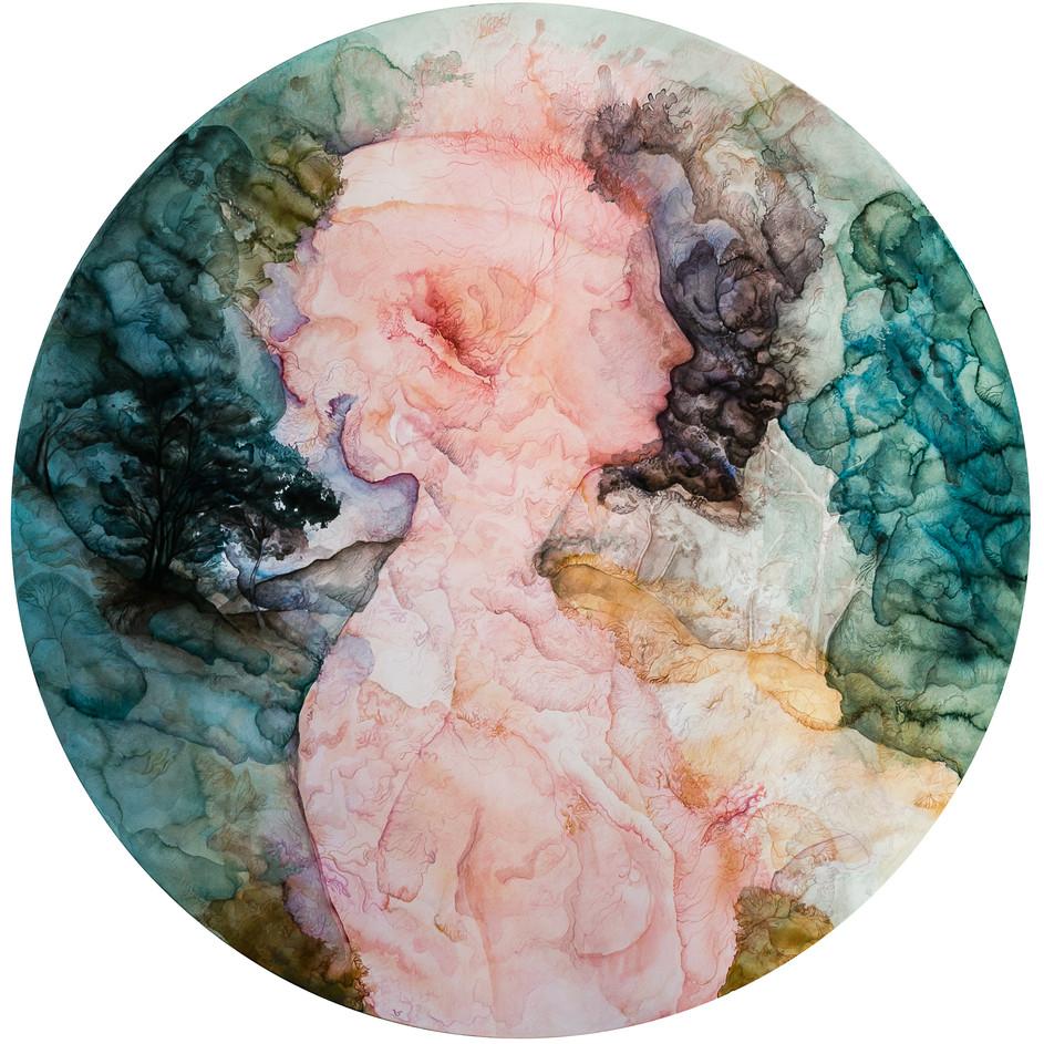résonance rose et verte (Portrait de Simonetta Vespucci)