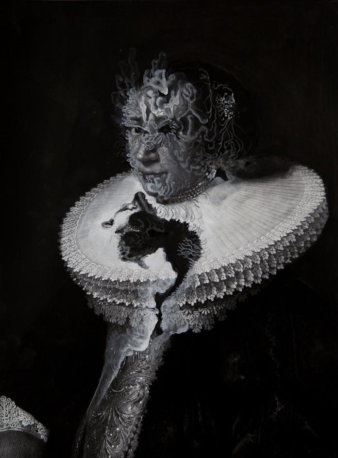 Cristallisation(portrait d'une dame avec une fraise)