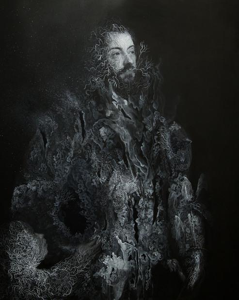 Cristallisation n°2 ( Portrait d'Alfonso d'Avalos,Marchese del Vasto, en armure avec un page)