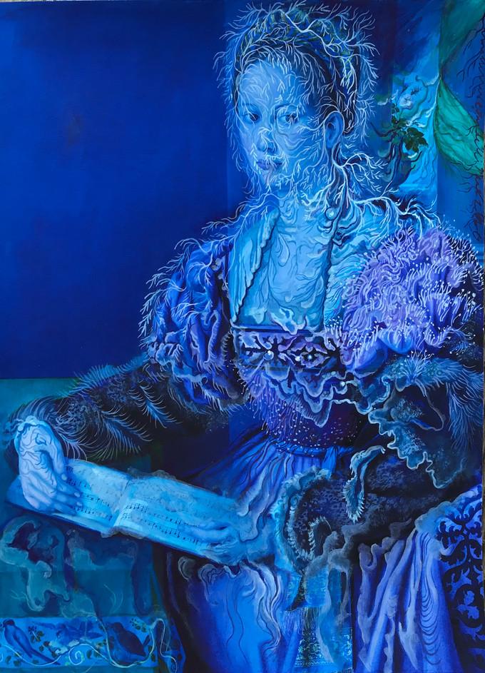 Cristallisation, ( Portrait d'une femme avec un livre de musique)