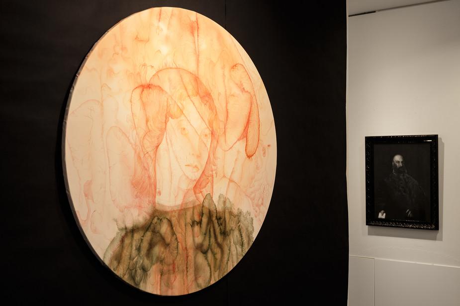 vue d'exposition, galerie la Maison Juste, Paris, 2020