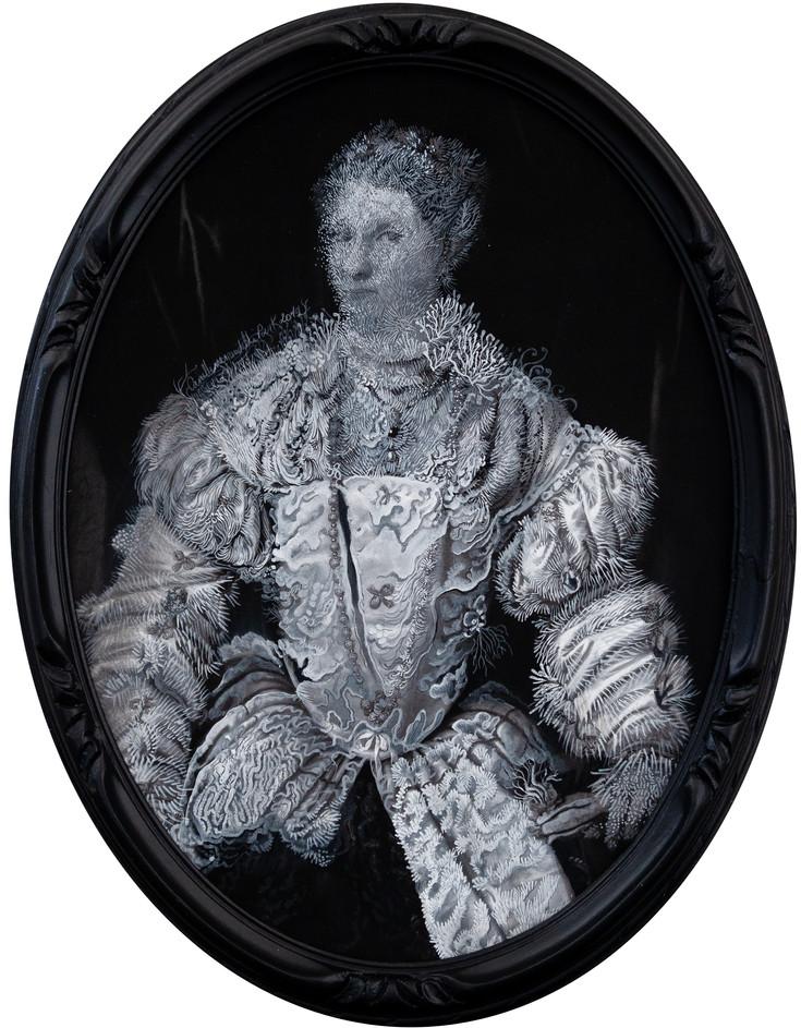 Cristallisation (portrait d'une jeune femme en blanc)
