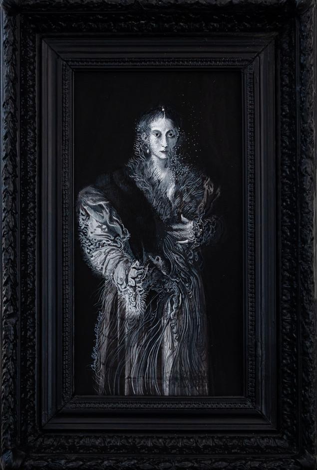 Cristallisation ( portrait d'une jeune femme)