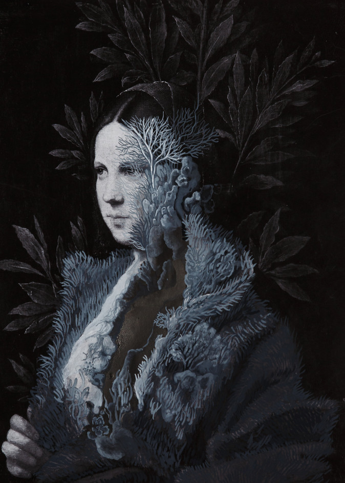Cristallisation (portrait d'une jeune femme)