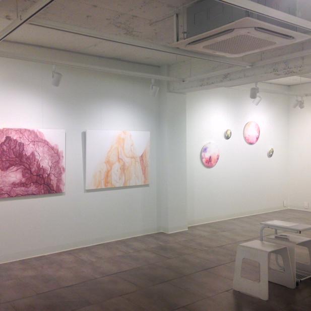 vue d'exposition , Galerie Life , corée du sud, 2018.