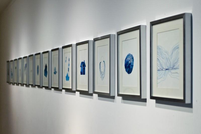 """Vue d'exposition 2, Espace Icare, exposition """"îles"""", 2012."""