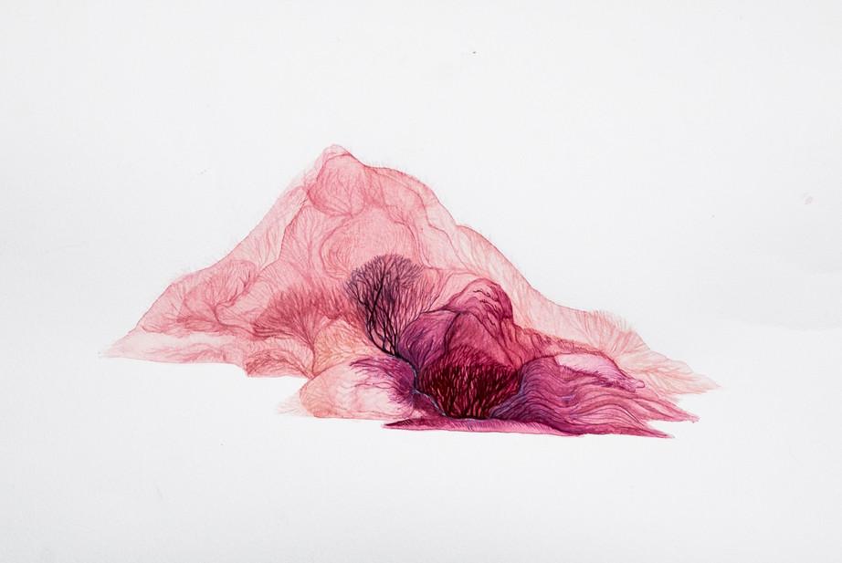 Exploration#2, 63 x 45 cm, watercolor an