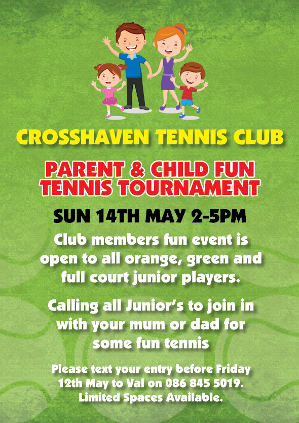 Can all members who wish to participate with their child in the Parent and Child Day this Sunday please register in advance. This is necessary in order to organise and schedule the games in advance - we appreciate and thank you for assisting us with the early registration.     **Please note - there is no registration on the day.**