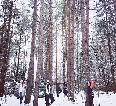 Snowga Yoga Season is here!_Stay tuned for full snowsuit required campfire roaring outdoor