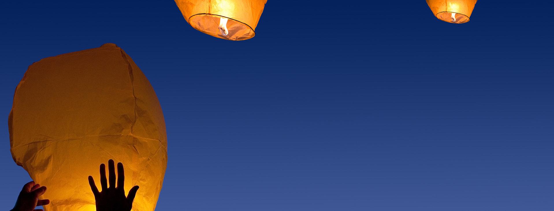 Yellow Fire Lanterns