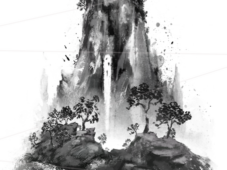 Traditional ink painting challenge!