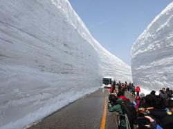Giant snow walls