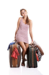 Woman packing Travel Products