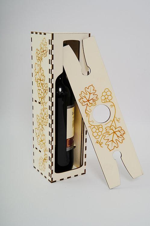 Weinbox mit Glashalterung