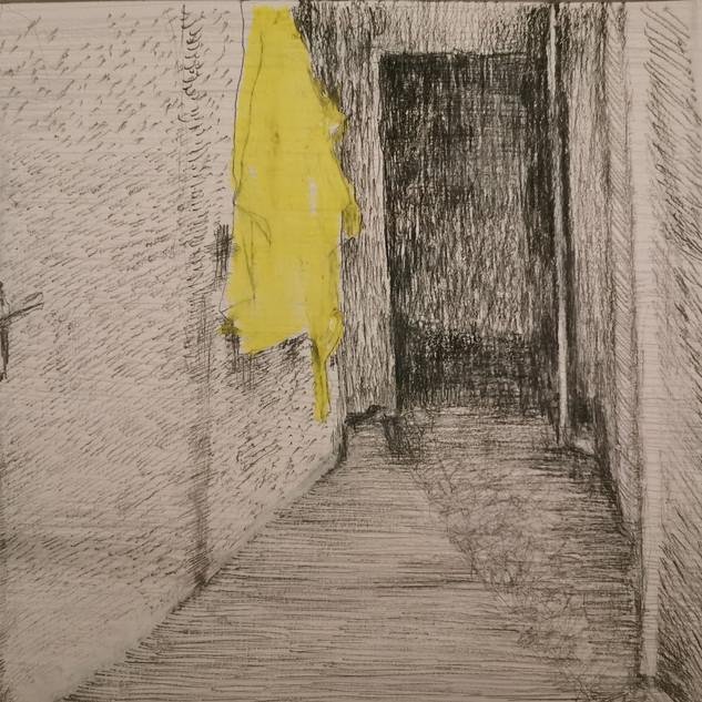 corridor with bathing robe