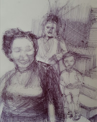 woman and two boys