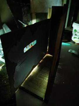 Corridor with Window at Night