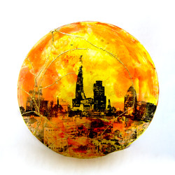Orange Yellow Skyline With Gerkin
