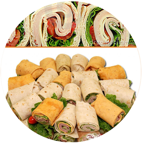 Various Sandwiches served with vegetables/cheese.