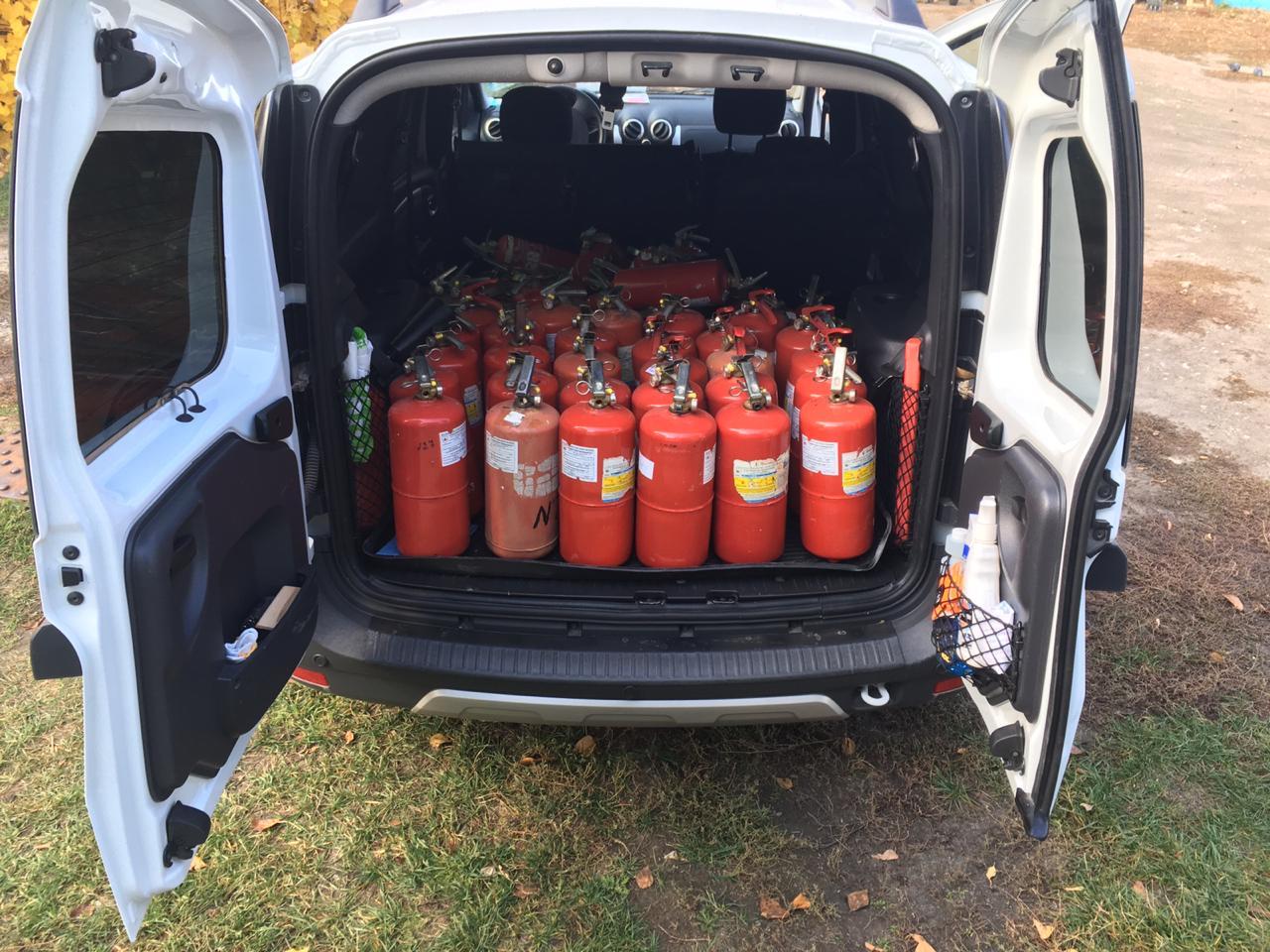 Доставка перезаряженных огнетуш