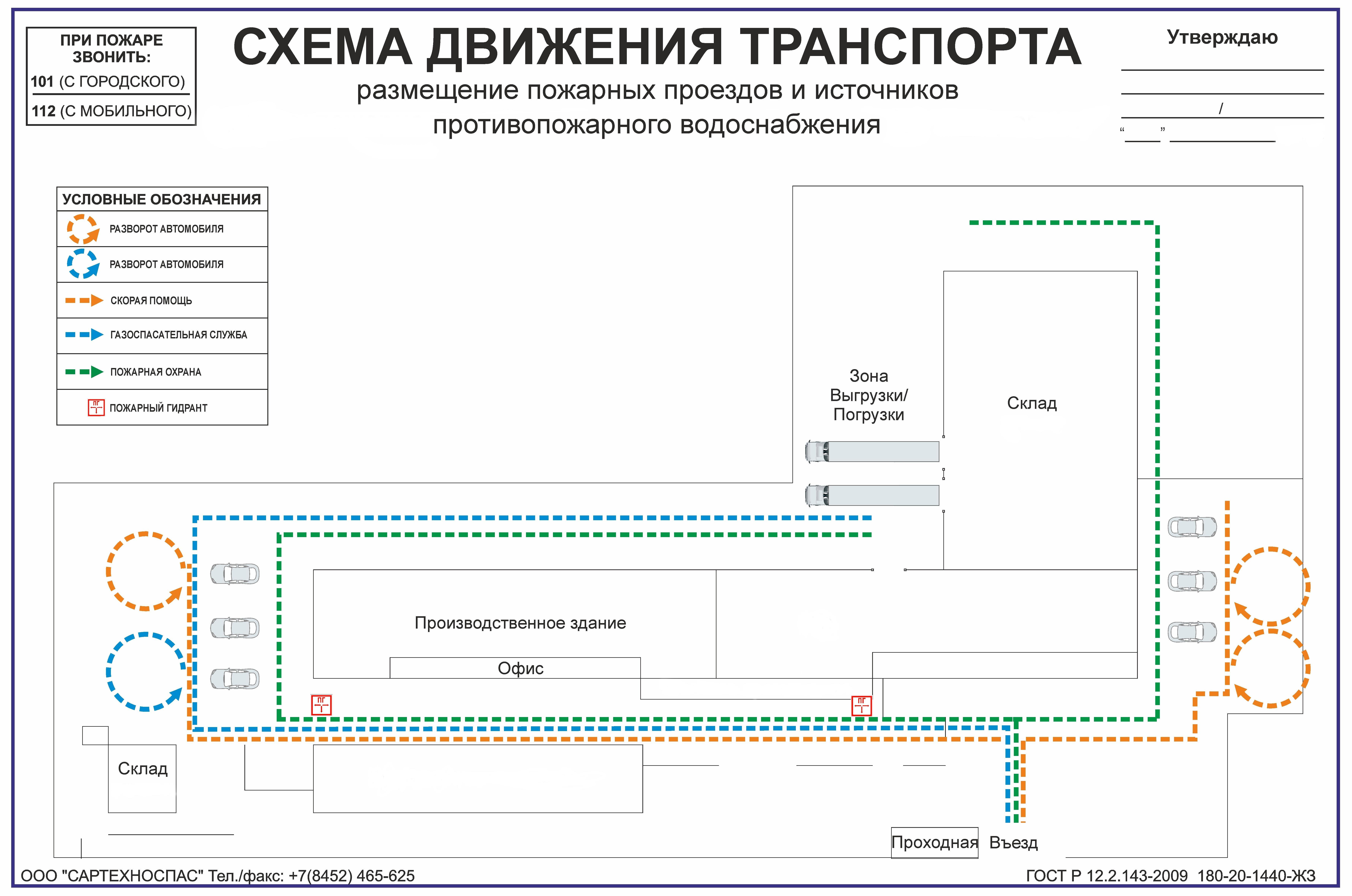 Схема движ.транспорта