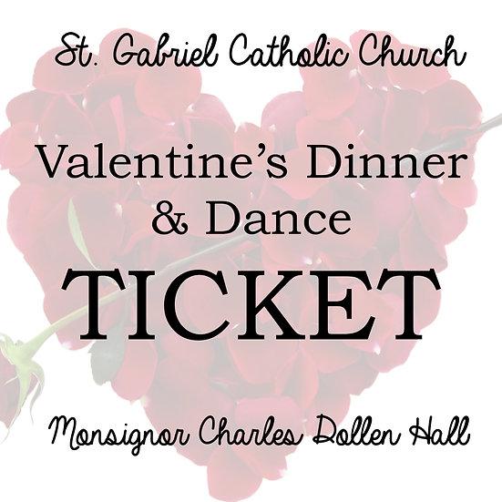 Valentine's Dinner & Dance Ticket