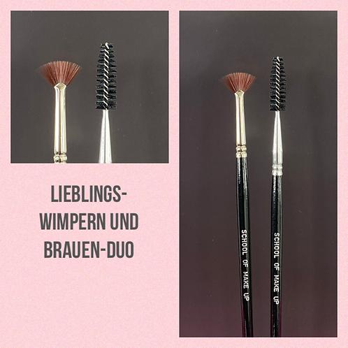 Lieblings Wimpern und Brauen Pinsel-Duo