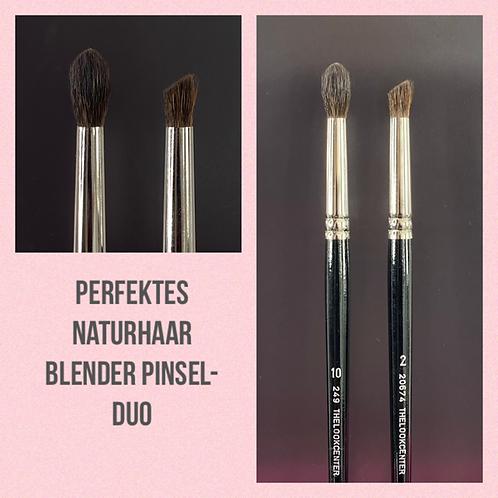 Perfektes Naturhaar Blender Pinsel-Duo