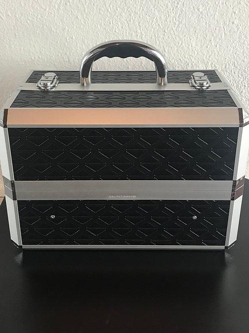Schminkkoffer- ausziehbar in schwarz