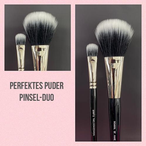 Perfektes Puder Pinsel-Duo