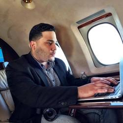 Handling Biz From A Jet