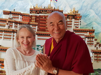 Meeting of Evelyne Mesquida and Venerable Thubten Wangchen