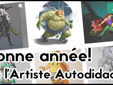 Bonne année de l'Artiste Autodidacte!