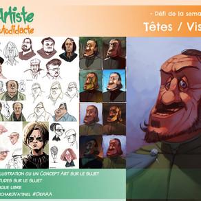 Défi de la semaine Saison 2 Episode 11 : Têtes/visages